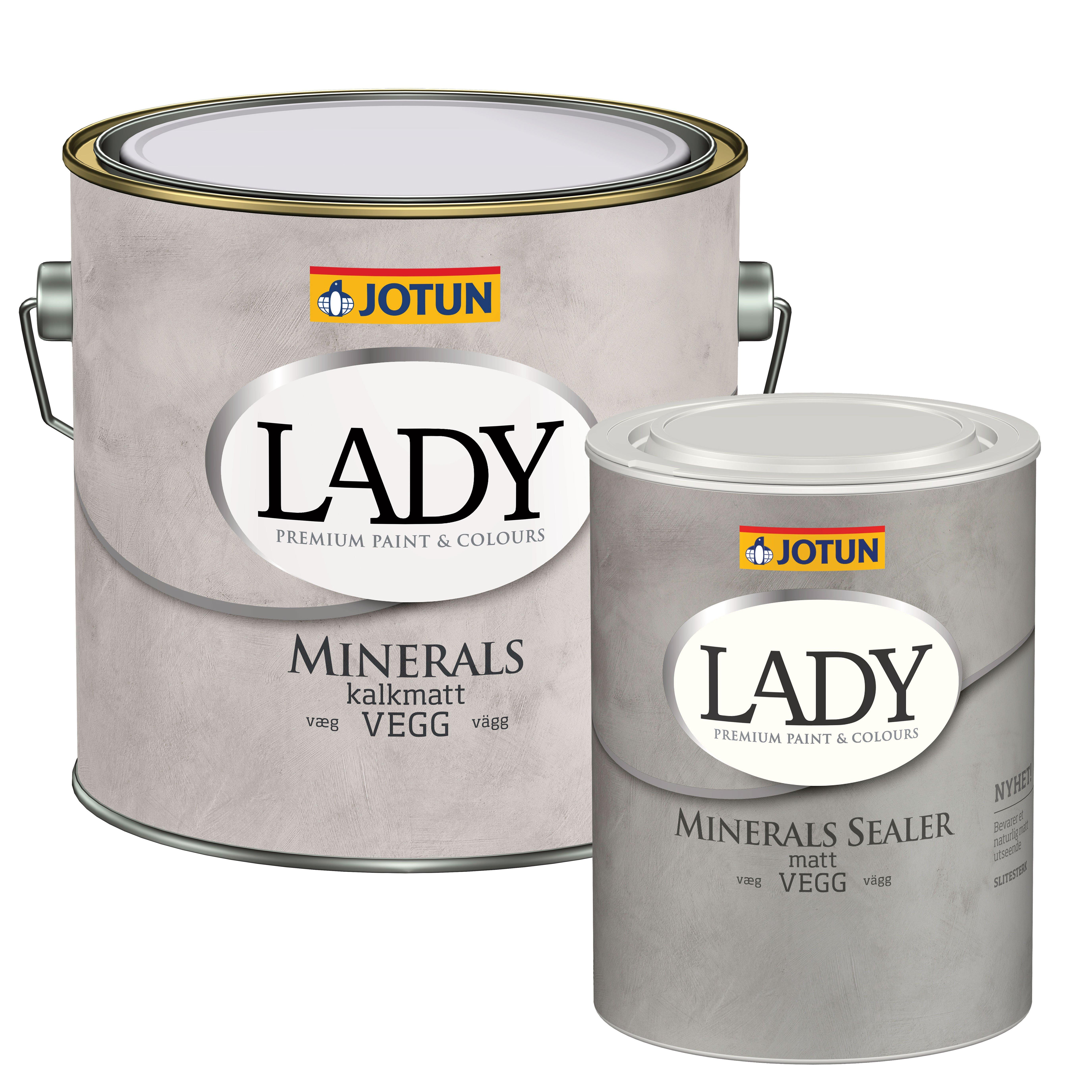 LADY Minerals sæt (2,7 L. maling + 0,68 L sealer)