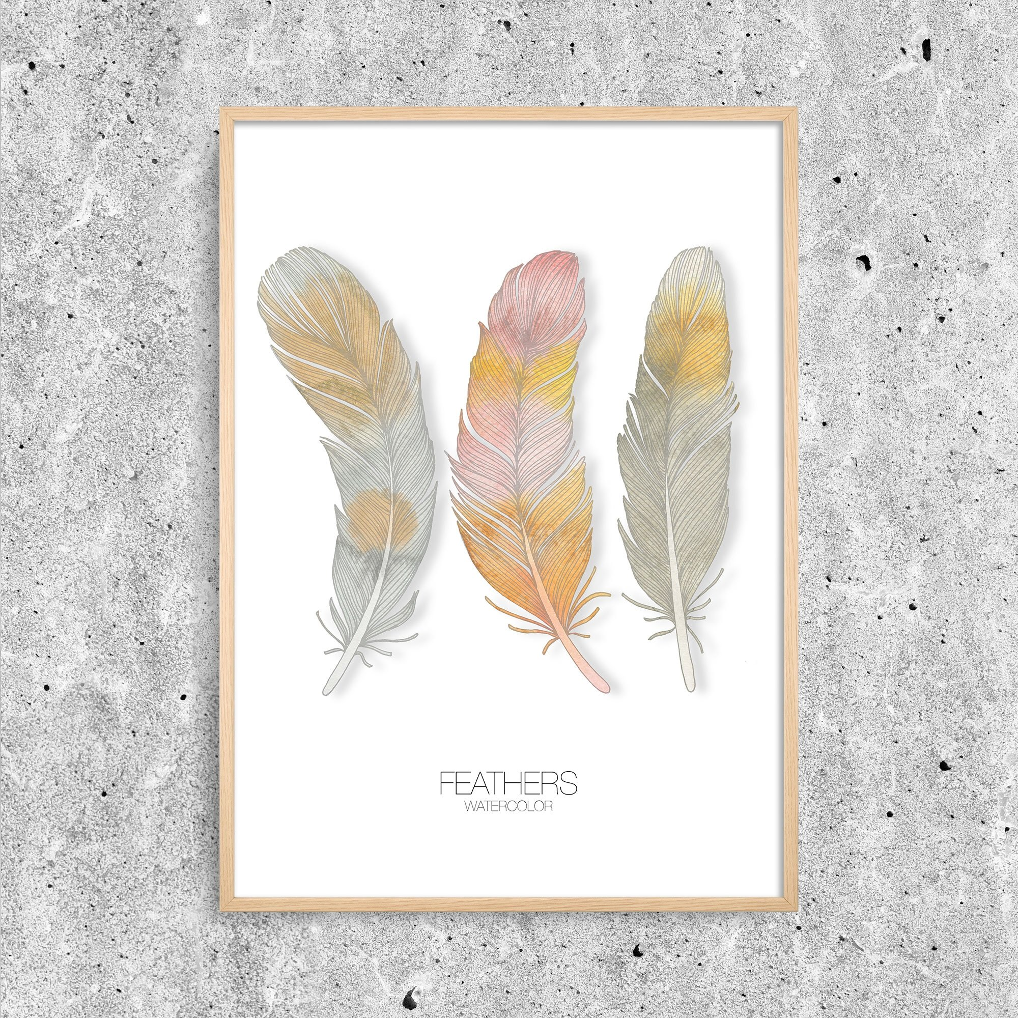 Feathers Watercolour 1