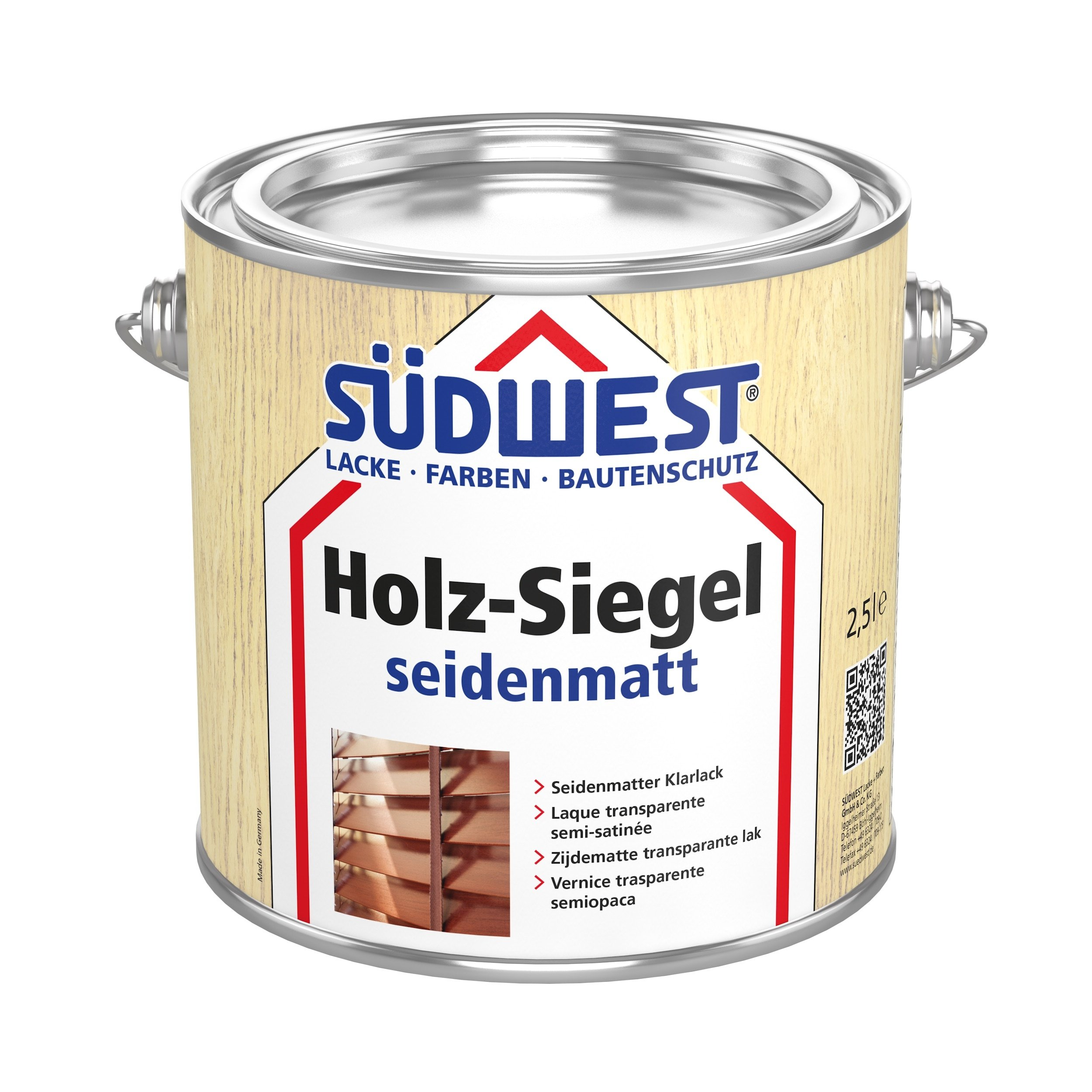 Klar lak - Holzsiegel satinmat -10 L