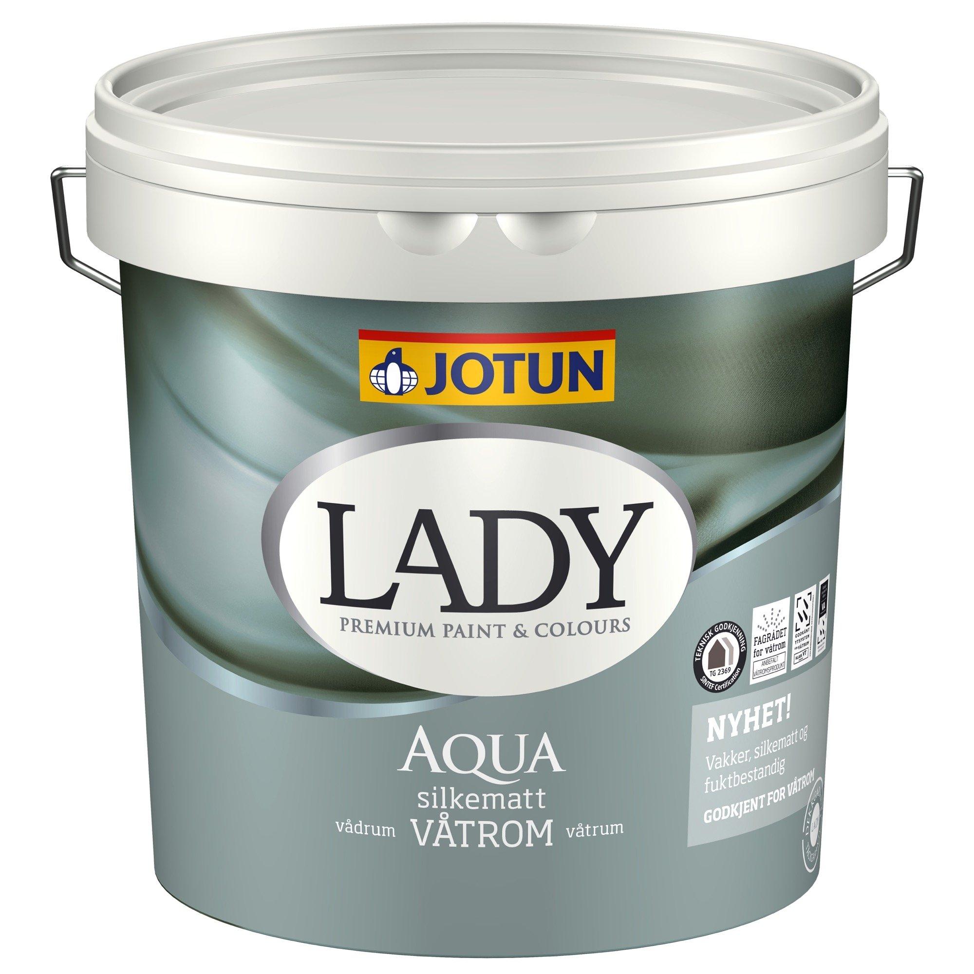 LADY Aqua vægmaling vådrum 2,7 L