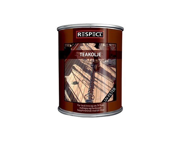 Respect teakolie rødlig